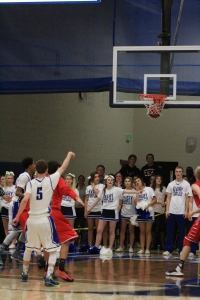 Riley Matticks, 11, shoots and makes the free throw that helps to seal the game, leading to Legend's 68-62 victory.